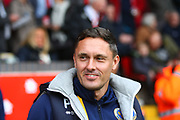 Shrewsbury Town manager Paul Hurst during the EFL Sky Bet League 1 match between Walsall and Shrewsbury Town at the Banks's Stadium, Walsall, England on 7 October 2017. Photo by John Potts.