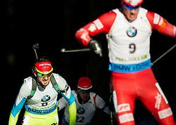 FAK Jakov (SLO) competes during Men 15 km Mass Start at day 4 of IBU Biathlon World Cup 2014/2015 Pokljuka, on December 21, 2014 in Rudno polje, Pokljuka, Slovenia. Photo by Vid Ponikvar / Sportida