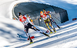 29.01.2017, Casino Arena, Seefeld, AUT, FIS Weltcup Nordische Kombination, Seefeld Triple, Langlauf, im Bild Bernhard Gruber (AUT), Eric Frenzel (GER), Mario Seidl (AUT) // Bernhard Gruber of Austria Eric Frenzel of Germany Mario Seidl of Austria during Cross Country Gundersen Race of the FIS Nordic Combined World Cup Seefeld Triple at the Casino Arena in Seefeld, Austria on 2017/01/29. EXPA Pictures © 2017, PhotoCredit: EXPA/ JFK