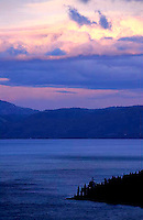 Colorful sunset over Lake Tahoe, CA<br />