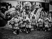 Joaldunak at the Smithsonian Folk Life Festival in Washington, DC