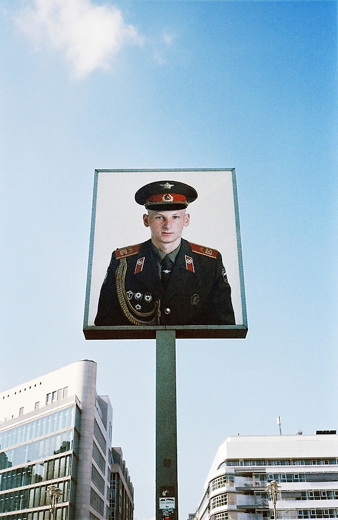 Image of East German soldier at Check Point Charlie