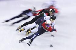 PYEONGCHANG, Feb. 10, 2018  John-Henry Krueger (No. 44) of the United States competes during the men's 1500m semifinal of short track speed skating event of 2018 PyeongChang Winter Olympic Games at Gangneung Ice Arena, South Korea, Feb. 10, 2018. (Credit Image: © Han Yang/Xinhua via ZUMA Wire)