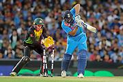Rohit Sharma bowled by Adam Zampa.  T20 international, Australia v India. Sydney Cricket Ground, NSW, Australia, 25 November 2018. Copyright Image: David Neilson / www.photosport.nz