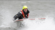 Putney, GREAT BRITAIN,  St Paul's School. Junior boy's. Double capsizes, on the Hammersmith Reach,[Mandatory Credit, Peter Spurrier/Intersport-images]