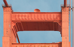 South Tower Detail - Wide, Upper. The Golden Gate Bridge.