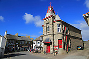 Historic building Marazion town hall village square , Cornwall, England, UK