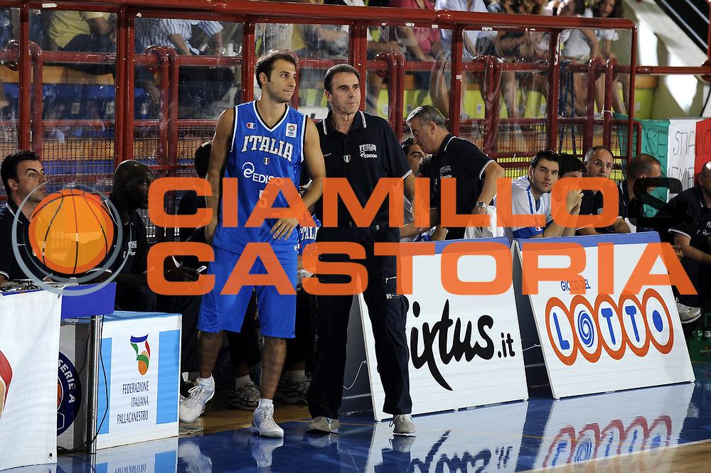 DESCRIZIONE : Porto San Giorgio Eurobasket Men 2009 Additional Qualifying Round Italia Finlandia<br /> GIOCATORE : Jacopo Giachetti Carlo Recalcati<br /> SQUADRA : Italia Italy Nazionale Italiana Maschile<br /> EVENTO : Eurobasket Men 2009 Additional Qualifying Round <br /> GARA : Italia Finlandia Italy Finland<br /> DATA : 20/08/2009 <br /> CATEGORIA : ritratto coach<br /> SPORT : Pallacanestro <br /> AUTORE : Agenzia Ciamillo-Castoria/G.Ciamillo