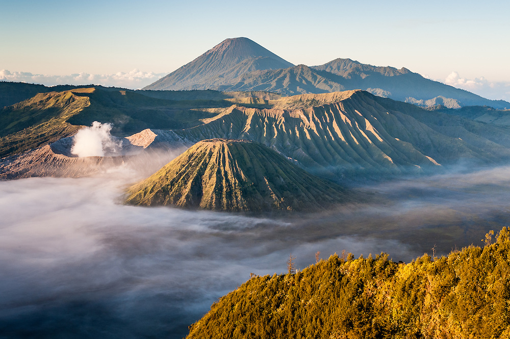 Mt Bromo volcano at dawn