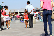Israel, Tel Aviv, people having fun at the renovated promenade in the old port, now an entertainment centre