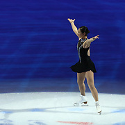 Third place finisher Mirai Nagasu is seen during the awards ceremony following the championship ladies free skate competition at the 2014 US Figure Skating Championships at the TD Garden on January 11, 2014 in Boston, Massachusetts.