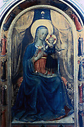 Virgin Mary with the Infant Jesus and Angels'.  Fra Angelico (Guido di Pietro/Giovanni da Fiesole c1400-55) Italian painter. Fresco.