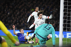 09.03.2016, Stamford Bridge, London, ENG, UEFA CL, FC Chelsea vs Paris Saint Germain, Achtelfinale, Rueckspiel, im Bild azpilicueta cesar, rabiot adrien // during the UEFA Champions League Round of 16, 2nd Leg match between FC Chelsea vs Paris Saint Germain at the Stamford Bridge in London, Great Britain on 2016/03/09. EXPA Pictures © 2016, PhotoCredit: EXPA/ Pressesports/ LAHALLE PIERRE<br /> <br /> *****ATTENTION - for AUT, SLO, CRO, SRB, BIH, MAZ, POL only*****
