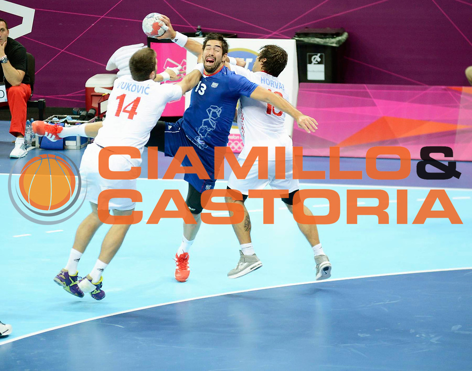DESCRIZIONE : Handball Jeux Olympiques Londres Demi finale<br /> GIOCATORE : Karabatic Nikola FRA<br /> SQUADRA : France Homme<br /> EVENTO : Jeux Olympiques<br /> GARA : France Croatie<br /> DATA : 10 08 2012<br /> CATEGORIA : Basketball Jeux Olympiques<br /> SPORT : Handball<br /> AUTORE : JF Molliere <br /> Galleria : France JEUX OLYMPIQUES 2012 Action<br /> Fotonotizia : Jeux Olympiques Londres demi Finale <br /> Predefinita :