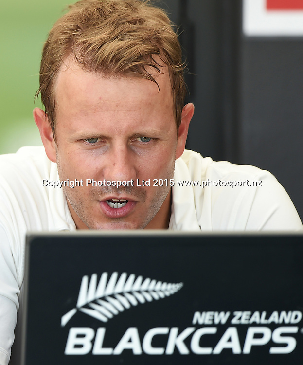 Neil Wagner on day 3 of the 2nd cricket test match between New Zealand Black Caps and Sri Lanka at Seddon Park in Hamilton, New Zealand. Sunday 20 December 2015. Copyright photo: Andrew Cornaga / www.photosport.nz