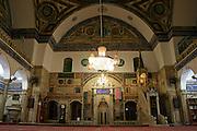mosque interior, akko, israel
