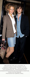 MISS KATE MELHUISH and  JACK FREUD  at a party in London on 23rd April 2003.			PIY 152