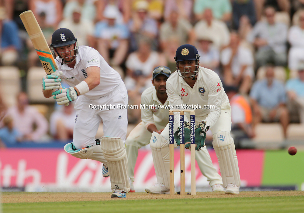 Ian Bell bats during the third Investec Test Match between England and India at the Ageas Bowl, Southampton. Photo: Graham Morris/www.cricketpix.com (Tel: +44 (0)20 8969 4192; Email: graham@cricketpix.com) 27/07/14