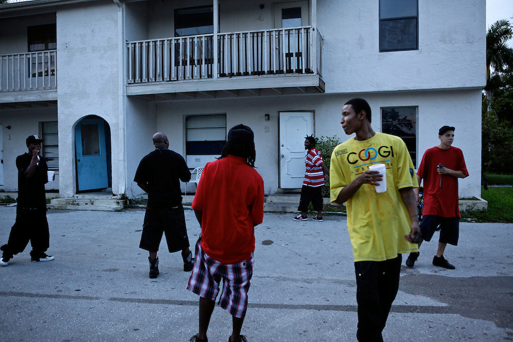 """Fort Myers hip hop artist Alvester Conner, a.k.a. Gutta Slim, records a video in front of his brother's home on Polk Street in Fort Myers with Mami-based rapper, """"Bad Guy.""""  Gutta Slim's music speaks of growing up in Fort Myers ? sometimes referred to as ?Li?l Pakistan? for the harsh street life ? and calling out fakers for singing about a life they don?t lead. ?Y?all startin? to piss me off, acting real but inside ... you know you?re soft. Never been in no block, never been in that cell. You?re just a studio gangsta livin? fairytales.? ? Gutta Slim, ?Fairytales?"""