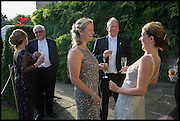 SALLY MANNERS; TOM MANNERS;  DR. PAULA BYRNE;  The Tercentenary Ball, Worcester College. Oxford. 27 June 2014
