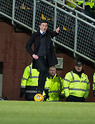 10th April 2018, Tannadice Park, Dundee, Scotland; Scottish Championship football, Dundee United versus St Mirren; St Mirren manager Jack Ross