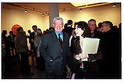 Frank Dunphy and Molly Dent-Brocklehurst. Product: Richard Hamilton private view, Gagosian Gallery. London. 13 January 2003.  © Copyright Photograph by Dafydd Jones 66 Stockwell Park Rd. London SW9 0DA Tel 020 7733 0108 www.dafjones.com