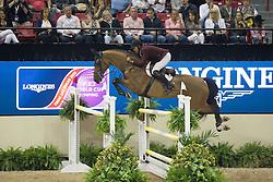 Mohammed Bassem Hassan, (QAT), Primeval Dejavu<br /> Longines FEI World Cup™ Jumping Final II<br /> Las Vegas 2015<br />  © Hippo Foto - Dirk Caremans<br /> 18/04/15