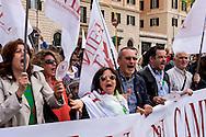 Roma 24 Aprile 2015<br /> Manifestazione degli insegnati aderenti ai  sindacati Usb, Unicobas e Anief contro la riforma della scuola del governo Renzi.<br /> Rome April 24, 2015<br /> Demostration  of teachers belonging to unions Usb, Unicobas and ANIEF against school reform of the government Renzi.
