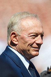 September 18, 2011; San Francisco, CA, USA; Dallas Cowboys owner Jerry Jones on the sidelines before the game against the San Francisco 49ers at Candlestick Park.