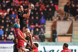 Ospreys' Alun Wyn Jones claims the lineout - Mandatory by-line: Craig Thomas/Replay images - 26/12/2017 - RUGBY - Parc y Scarlets - Llanelli, Wales - Scarlets v Ospreys - Guinness Pro 14
