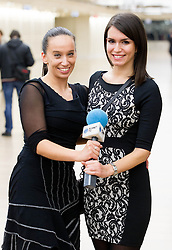 Sabina Gosenca and Natasa Gavranic of Planet TV at Slovenian Sports personality of the year 2012 annual awards presented on the base of Slovenian sports reporters, on December 20, 2011 in Cankarjev dom, Ljubljana, Slovenia. (Photo By Vid Ponikvar / Sportida.com)