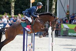 Bles Bart (NED) - Dynamo<br /> KWPN Paardendagen - Ermelo 2012<br /> © Dirk Caremans