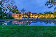 Estate With Swimming Pool, Dusk, Further Lane, Amagansett, NY, Long Island, New York