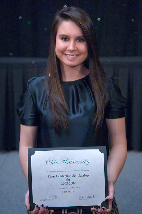1890525th Annual Leadership Awards Gala..Pepsi Ohio University Campus Leadership Scholarship..Tara Frazier