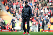 Liverpool Manager Jurgen Klopp during the Premier League match between Liverpool and Bournemouth at Anfield, Liverpool, England on 9 February 2019.