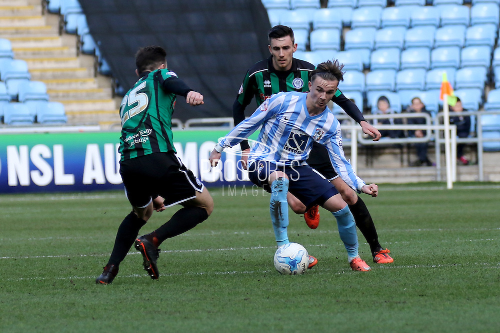 Coventry City Midfielder James MaddisonCoventry City Midfielder James Maddison during the Sky Bet League 1 match between Coventry City and Rochdale at the Ricoh Arena, Coventry, England on 5 March 2016. Photo by Chris Wynne.