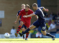 Photo: Olly Greenwood.<br />Southend United v Cardiff City. Coca Cola Championship. 24/09/2006. Cardiff's Michael Chopra and Sothend's Peter Clarke