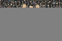 Marek Hamsik Napoli, President Aurelio De Laurentis and  Alessandro Daniele show a shirt with the name of Pino Daniele the italian singer died few days ago. con una maglia dedicata a Pino Daniele <br /> Napoli 11-01-2015 Stadio San Paolo <br /> Football Calcio Serie A Napoli - Juventus FC<br /> Foto Cesare Purini / Insidefoto