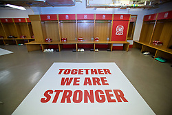 CARDIFF, WALES - Thursday, October 11, 2018: The Wales dressing room before the International Friendly match between Wales and Spain at the Principality Stadium. (Pic by David Rawcliffe/Propaganda)