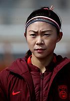 International Women's Friendly Matchs 2019 / <br /> Womens's Algarve Cup Tournament 2019 - <br /> China v Norway 1-3 ( Municipal Stadium - Albufeira,Portugal ) - <br /> LIU HUITING of China