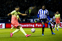 Riyad Mahrez of Manchester City crosses the ball - Mandatory by-line: Robbie Stephenson/JMP - 04/03/2020 - FOOTBALL - Hillsborough - Sheffield, England - Sheffield Wednesday v Manchester City - Emirates FA Cup fifth round