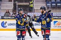 2019-12-13 | Rauma, Finland : Lukko (27) Ponthus Westerholm 2+0 and Lukko (19) Robin Press 0+1 during the game between Lukko-KalPa in Kivikylän Areena ( Photo by: Elmeri Elo | Swe Press Photo )