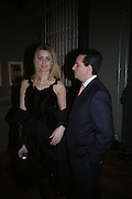 "Jessica Ornstein and John Kelly. The private views for Anna Piaggi's exhibition ""Fashion-ology"" and also 'Popaganda: the life and style of JC de Castelbajacat' the Victoria & Albert Museum on January 31  2006. © Copyright Photograph by Dafydd Jones 66 Stockwell Park Rd. London SW9 0DA Tel 020 7733 0108 www.dafjones.com"
