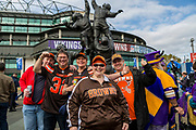 Cleveland Browns fans during the International Series match between Cleveland Browns and Minnesota Vikings at Twickenham, Richmond, United Kingdom on 29 October 2017. Photo by Jason Brown.