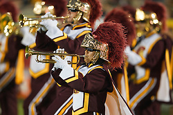 September 11, 2010; Los Angeles, CA, USA;  The Southern California Trojans band performs before the game against the Virginia Cavaliers at the Los Angeles Memorial Coliseum. USC defeated Virginia 17-14.