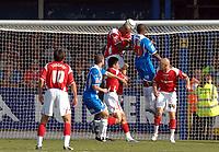 Photo: Ashley Pickering.<br /> Colchester United v Charlton Athletic. Coca Cola Championship. 15/09/2007.<br /> Kevin Lisbie (no. 20) scores Colchester's second goal