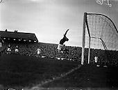 1957 - Soccer: Limerick v Shamrock Rovers at Glenmalure Park.