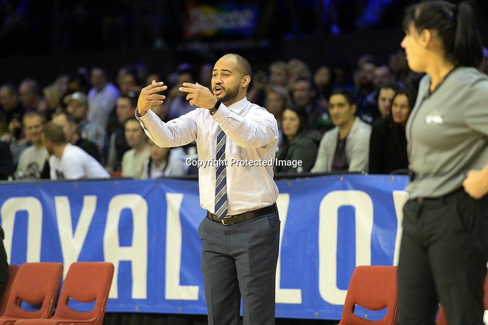 Wellington Saints' coach Kevin Braswell seen during the NBL match between Wellington Saints v Southland Sharks, TSB Arena, Friday 19th May 2017. Copyright Photo: Raghavan Venugopal / www.photosport.nz