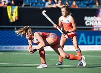 BREDA -  Caia Van Maasakker (Ned)  tijdens  de finale  Nederland-Japan (8-2) van de 4 Nations Trophy dames 2018 . COPYRIGHT KOEN SUYK
