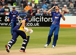 Gloucestershire's David Payne agonises over nearly taking a wicket - Mandatory by-line: Robbie Stephenson/JMP - 07966386802 - 04/08/2015 - SPORT - CRICKET - Bristol,England - County Ground - Gloucestershire v Durham - Royal London One-Day Cup